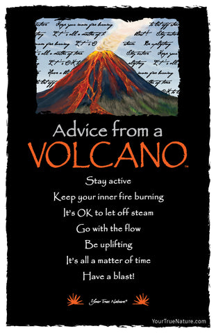 Advice from a Volcano Frameable Art Postcard