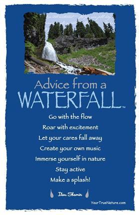 Advice From A Waterfall Crater Lake National Park