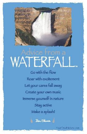 Advice from a Waterfall - Yellowstone National Park - Frameable Art Postcard