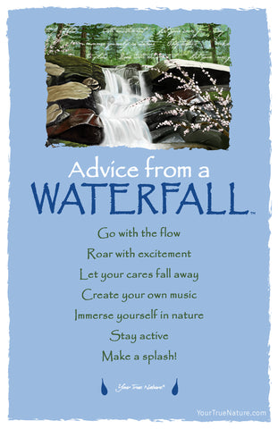Advice from a Waterfall Frameable Art Postcard