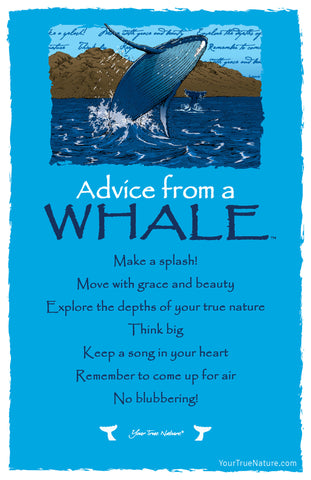 Advice from a Whale Frameable Art Card