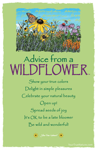 Advice from a Wildflower Frameable Art Postcard