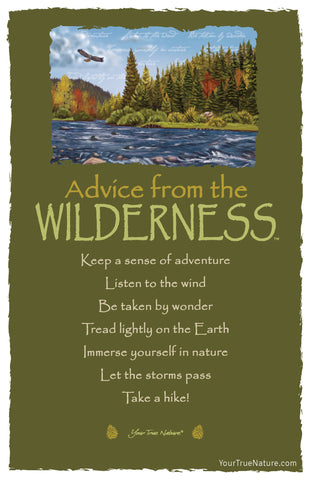 Advice from the Wilderness Frameable Art Postcard