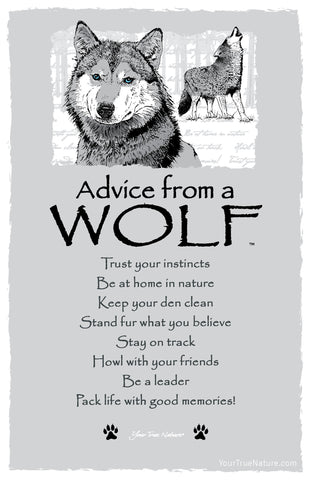 Advice From A Wolf Frameable Art Card Your True Nature