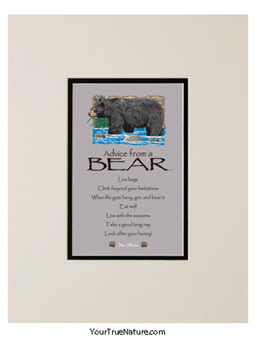 Advice from a Bear Matted Print