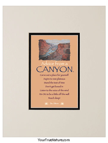 Advice from a Canyon Matted Print