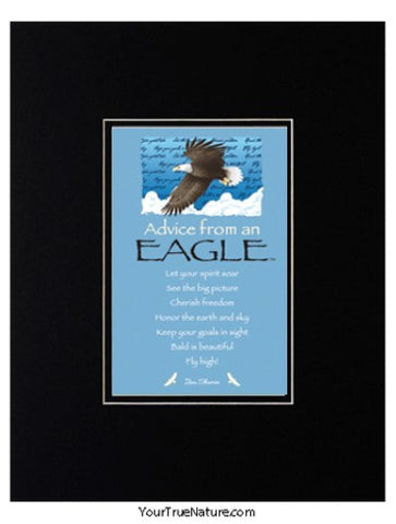 Advice from an Eagle Matted Print