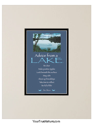 Advice from a Lake Matted Print