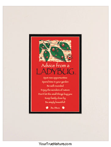 Advice from a Ladybug Matted Print