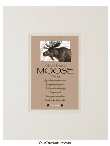 Advice from a Moose Matted Print
