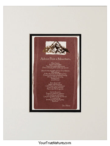 Advice from a Mountain® Matted Print