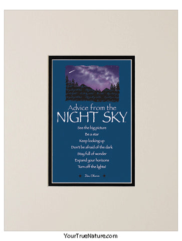 Advice from the Night Sky Matted Print