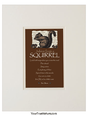 Advice from a Squirrel Matted Print