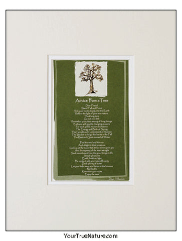 Advice from a Tree Matted Print