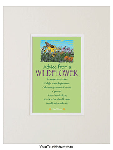 Advice from a Wildflower Matted Print
