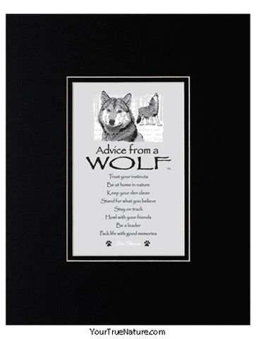 Advice from a Wolf Matted Print