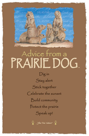 Advice from a Prairie Dog Frameable Art Postcard