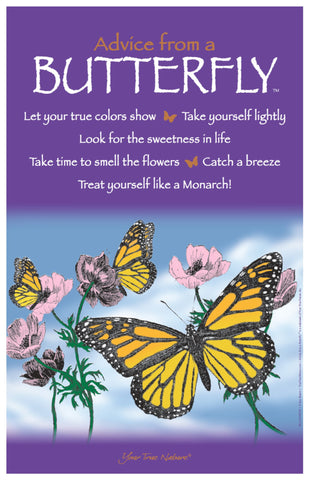 Advice from a Butterfly Frameable Art Poster 11x17