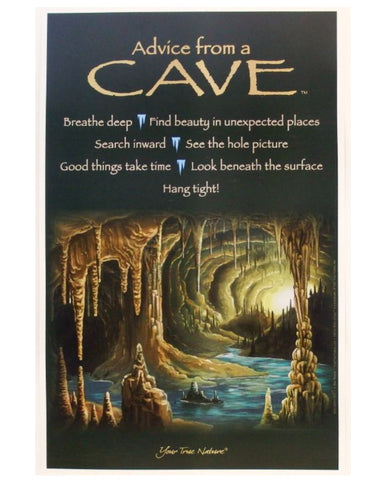 Advice from a Cave Frameable Art Poster 11x17