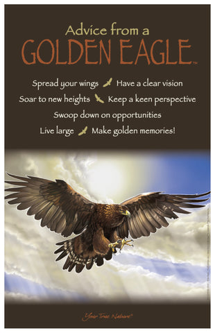 Advice from a Golden Eagle Frameable Art Poster 11x17