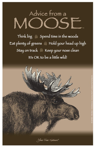 Advice from a Moose Frameable Art Poster 11x17