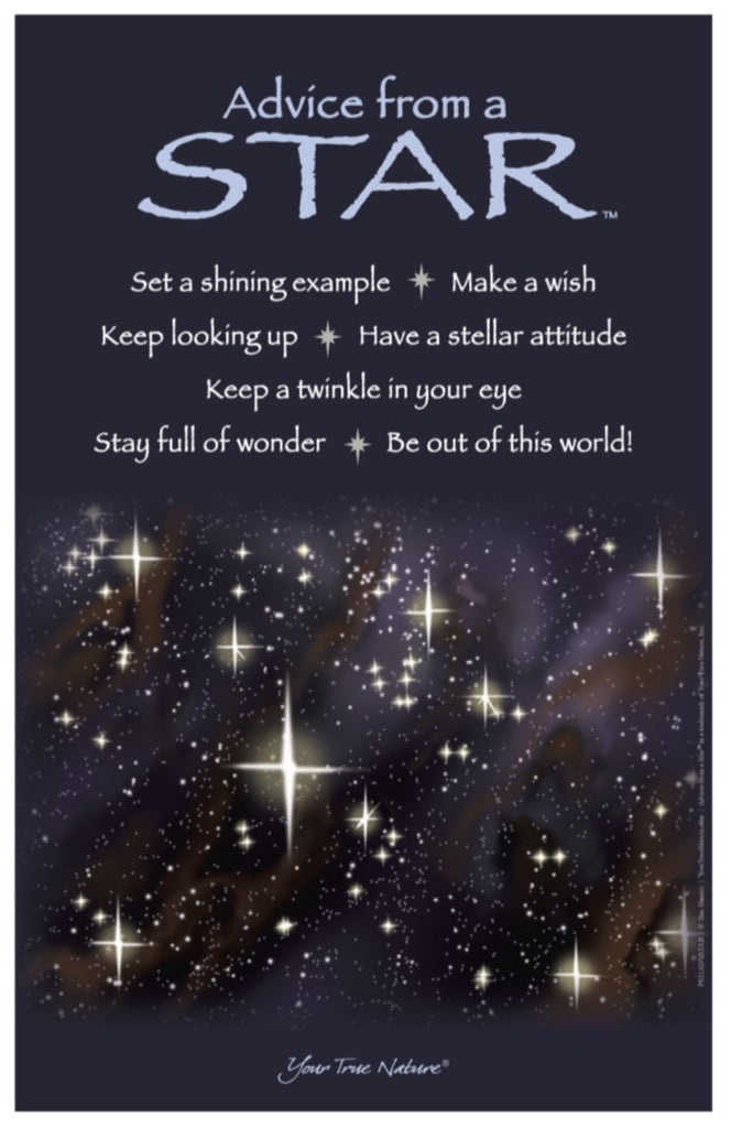 advice from a star frameable art poster 11x17  u2013 your true