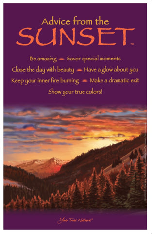 Advice from the Sunset Frameable Art Poster 11x17