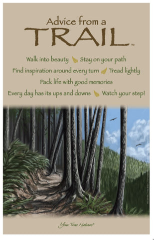 Advice from a Trail Frameable Art Poster 11x17
