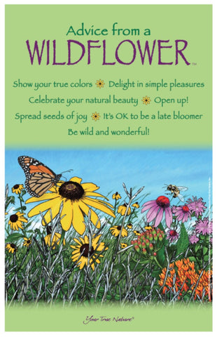 Advice from a Wildflower Frameable Art Poster 11x17