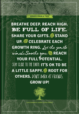 Advice from a Tree - 15th Anniversary Artist Signed Limited Edtion Poster
