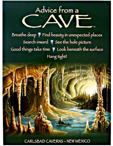 Advice from a Cave - Carlsbad Caverns - Frameable Art Poster 9x12