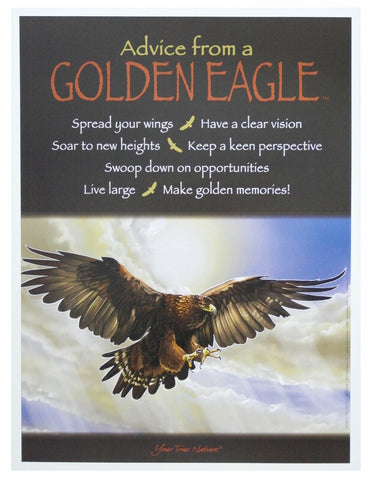 Advice from a Golden Eagle Frameable Art Poster 9x12
