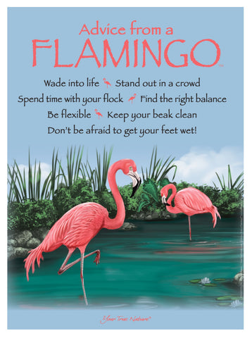 Advice from a Flamingo Frameable Art Poster 9x12