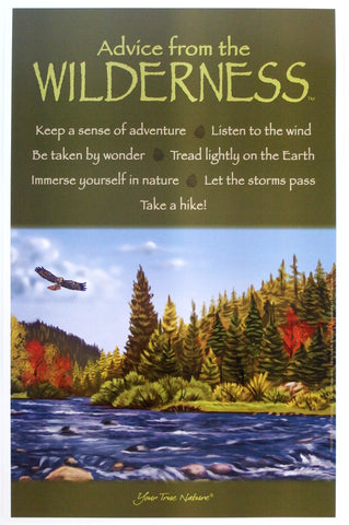 Advice from the Wilderness Frameable Art Poster 9x12