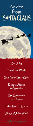 Advice from Santa Claus Laminated Bookmark