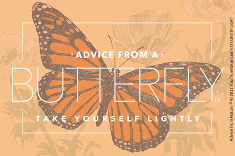 Advice from a Butterfly - Designer Sticker