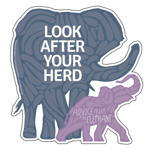 Advice from an Elephant - Die Cut Sticker - Large
