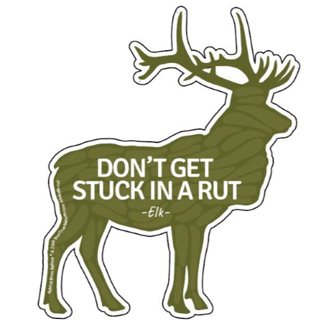 Advice from an Elk - Die Cut Sticker - Large