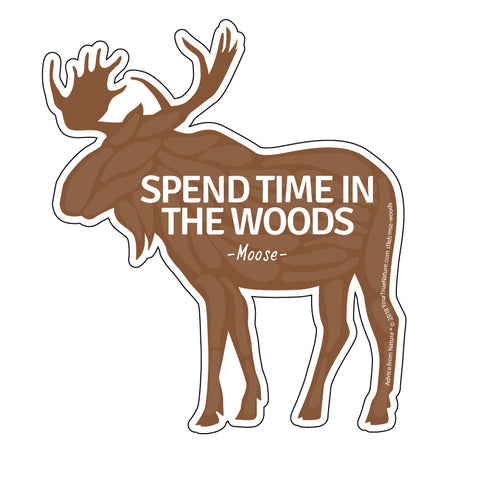 Advice from a Moose - Die Cut Sticker - Large
