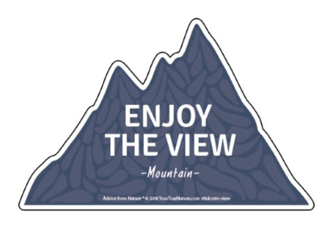 Advice from a Mountain - Die Cut Sticker - Large