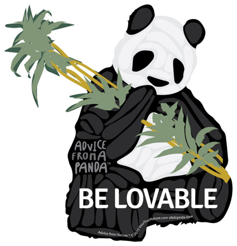 Advice from a Panda - Die Cut Sticker - Large