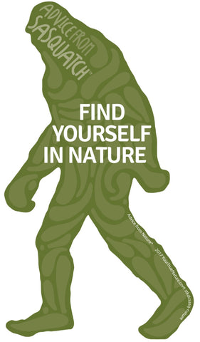 Advice from Sasquatch- Die Cut Sticker - Large