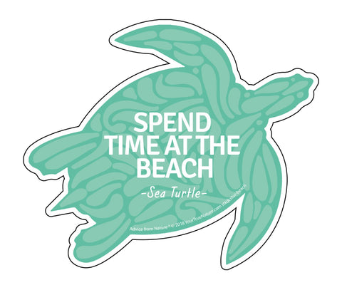 Advice from a Sea Turtle - Die Cut Sticker - Large