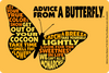 Advice from a Butterfly - Outline Sticker
