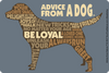 Advice from a Dog Outline Sticker