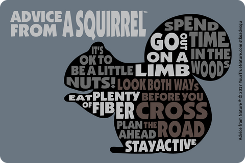 Advice from a Squirrel Outline Sticker