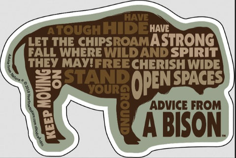 Advice from a Bison - Die Cut Outline Sticker
