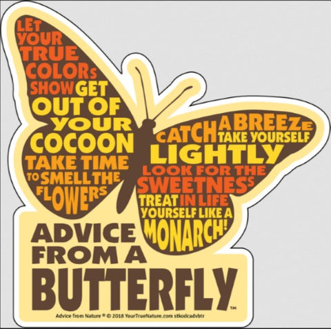 Advice from a Butterfly - Die Cut Outline Sticker