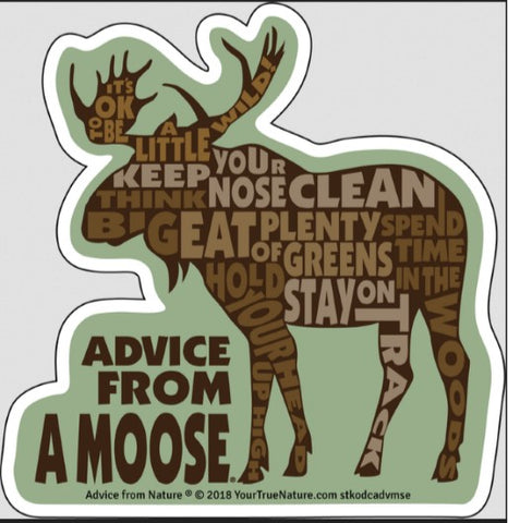 Advice from a Moose - Die Cut Outline Sticker