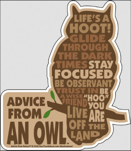 Advice from an Owl - Die Cut Outline Sticker